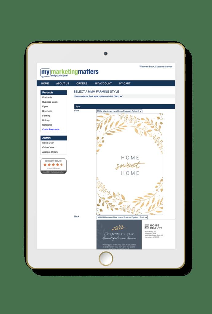 My Marketing Matters Print Portal Tablet