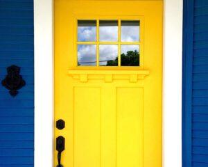 Trending Color Real Estate Yellow Door